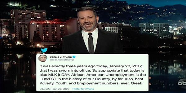 Trump has been in office 3 years. Late night shows pay tribute with highlights of his presidency