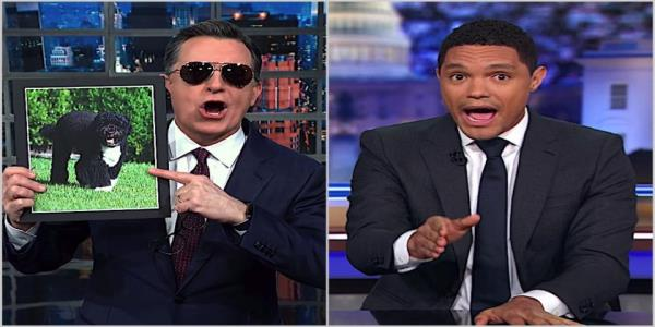 Trevor Noah and Stephen Colbert wonder if Bloomberg can beat his own history with women, stop-and-frisk