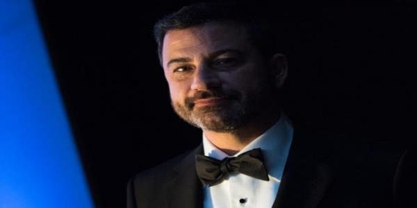 Jimmy Kimmel opens the virtual Emmys in front of a fake audience