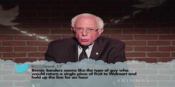 A bipartisan gang of politicians read mean tweets about themselves for Jimmy Kimmel