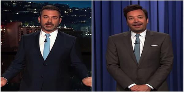 Jimmy Kimmel found Muellers testimony devastating and shamed Trumps GOP enablers. Jimmy Fallon told jokes
