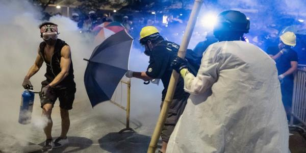 China's Army Signals It May Move Against Hong Kong Protests
