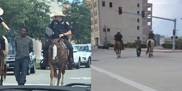 Texas Police Apologize for Viral Photo of Mounted Officers Leading Black Man by Rope