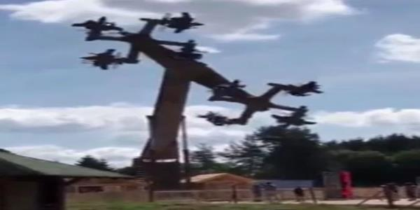 German Theme Park Shuts Down Ride That Looks Like Flying Swastikas