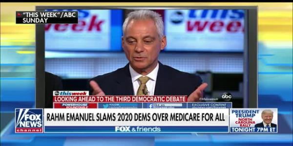 Dan Bongino, Rahm Emanuel agree: 2020 Dems making big mistake going into general election