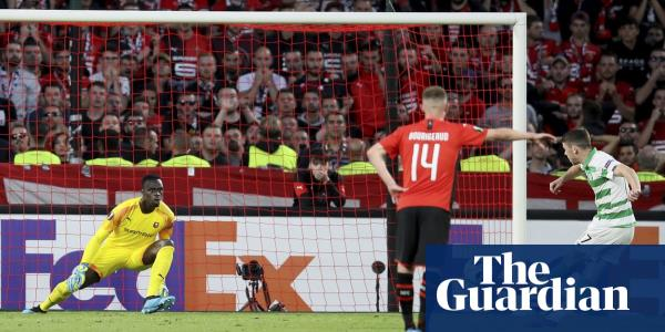 Ryan Christie penalty secures draw for Celtic at Rennes despite late red card