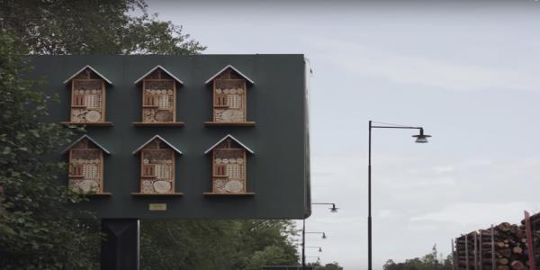 Swedish McDonalds turns billboards into bee hotels