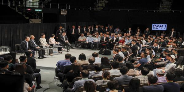 Town hall speakers rebuke Lam for Hong Kong protest response