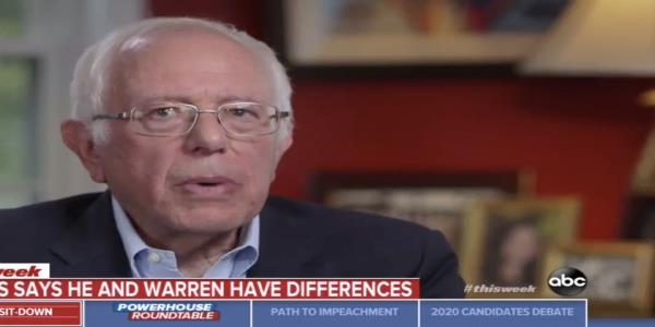 Bernie Sanders differentiates himself from Warren, says hes the only candidate willing to stand up to corporate elite
