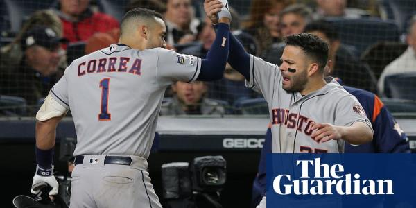 Houston Astros surge past sloppy Yankees to move one win from pennant