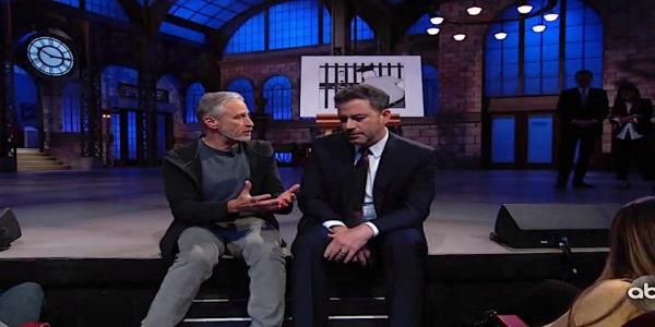 Jon Stewart helps save Jimmy Kimmels Brooklyn show after a devastating New Yorker rejection