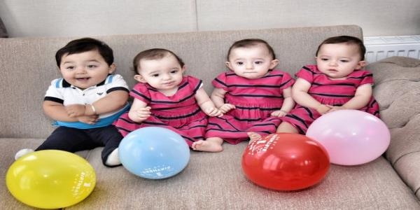 Britains Oldest Mum Of Quadruplets Overjoyed As Babies Celebrate Their First Birthdays