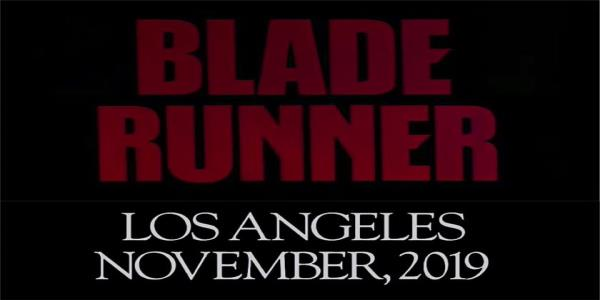 Blade Runner was set in November 2019. Welcome to the future