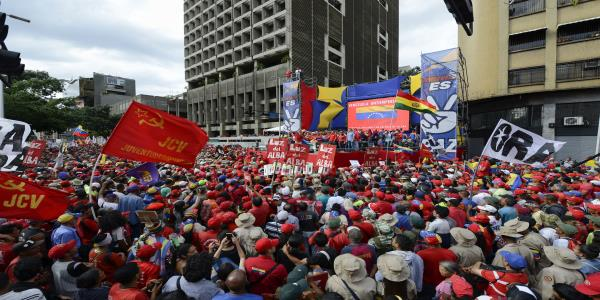 Venezuela's Guaidó leads thousands in anti-Maduro protest