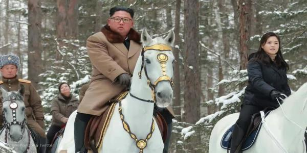 Kim Jong Un rides again as North Korea warns U.S. against using military force