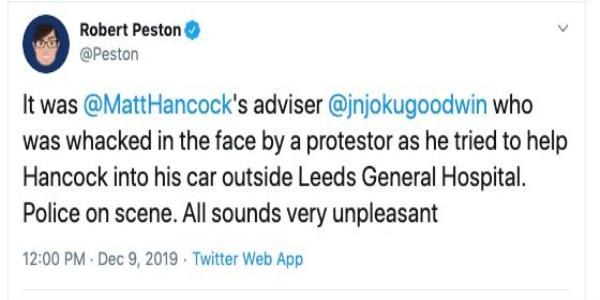 No, Matt Hancocks Aide Was Not Punched Outside A Leeds Hospital