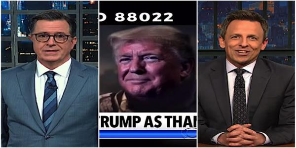 Stephen Colbert and Seth Meyers dont find Trumps impeachment light act persuasive