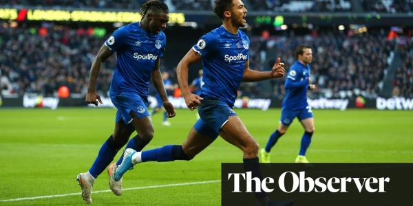 Dominic Calvert-Lewin's equaliser earns draw for Everton at West Ham