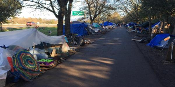 Inside the mile-long California homeless camp that is tearing a town apart as Silicon Valley house prices soar