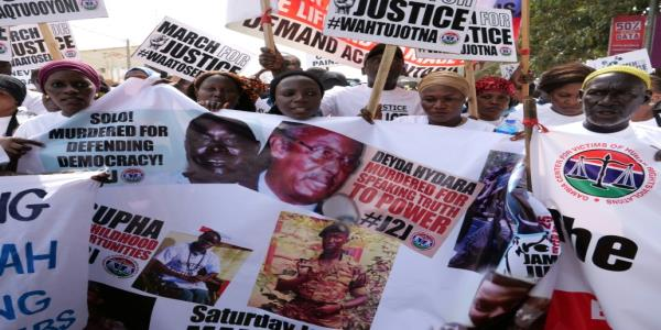 Gambians rally seeking dictators trial for murder, rights abuses