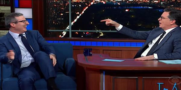 John Oliver tells Stephen Colbert the beauty and terror of becoming a U.S. citizen when Americas not at its best
