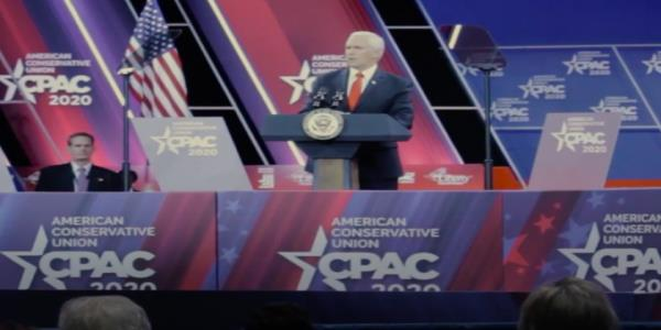 Borat 2 trailer reveals Sacha Baron Cohen was the Trump impersonator who interrupted Mike Pences CPAC speech