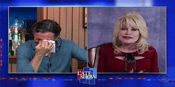 Dolly Parton tells Stephen Colbert her 3 favorite Dolly Parton songs, brings him to tears