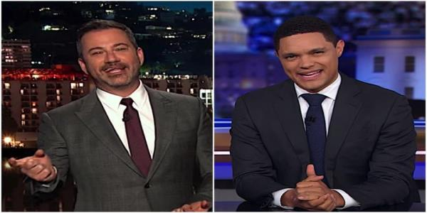 Jimmy Kimmel and Trevor Noah cant believe Trump is lobbying Sweden to free A$AP Rocky at Kanyes request