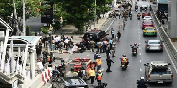 Footage shows Bangkok bombing in mall minutes from ASEAN summit