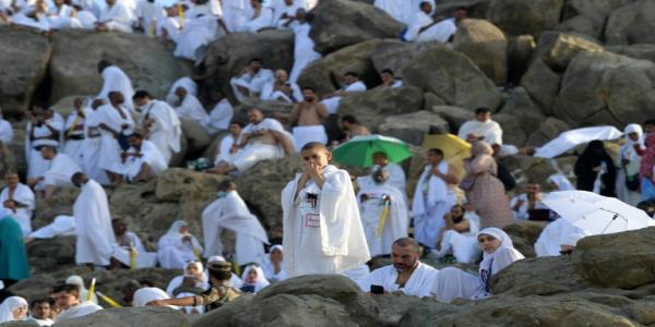 Some 2.5 million Muslim hajj pilgrims scale Mount Arafat