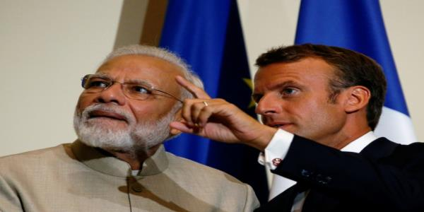 France watching Kashmir rights, Macron tells Modi