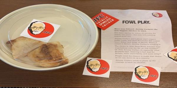 KFC Throws The Tories Anti-Corbyn Chicken Jibe Back In Their Faces