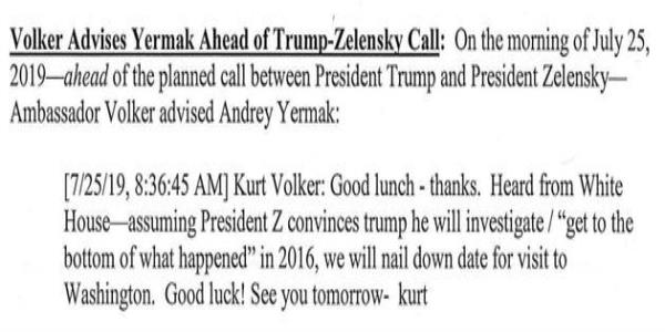 Newly Revealed Trump Administration Texts On Ukraine Appear To Show Clear Quid Pro Quos