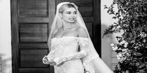 Hailey Bieber posts first photos of wedding dress: See the Virgil Abloh design