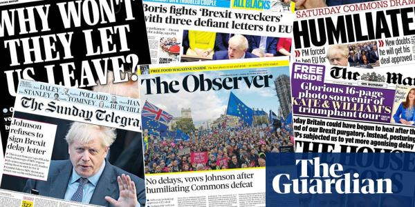 House of fools: how the papers covered Johnsons latest Brexit defeat