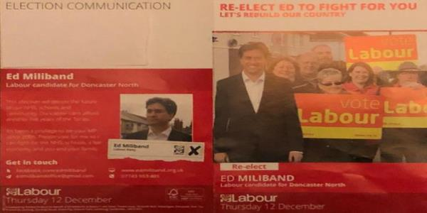 Ed Miliband Claims He Voted For A Brexit Deal Nine Times In Election Leaflet
