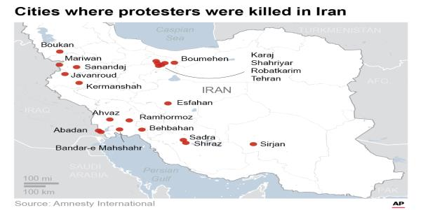 UN office: Iranian forces were 'shooting to kill' protesters