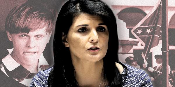 Nikki Haley claims Dylann Roof hijacked the heritage of the Confederate flag in church massacre