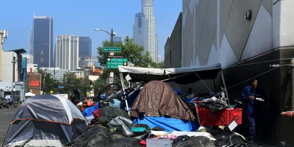 California governor asks Trump administration to release money to fight homelessness