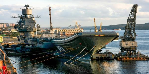 One dead in fire on Russias sole aircraft carrier