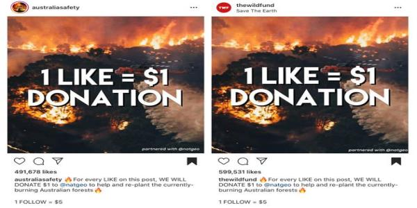 Instagram Scammers Are Exploiting The Australia Fires For Cash And Clout
