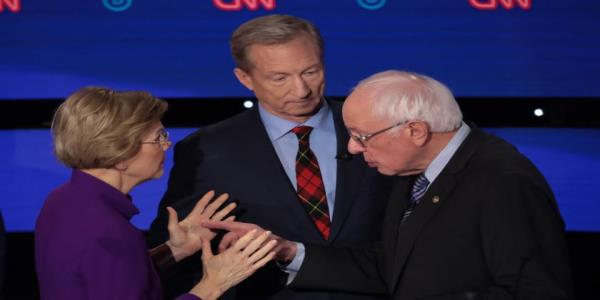 Bernie Sanders tried to shake Elizabeth Warrens hand after the debate. She brushed him off