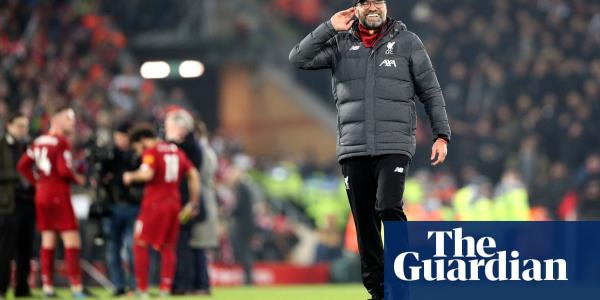 Unheard-of achievement beckons as Liverpool begin their victory parade | Barney Ronay