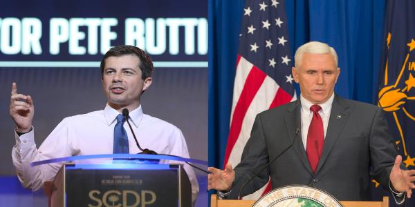 Pete Buttigieg shocks Stephen Colbert with perfect Mike Pence impression