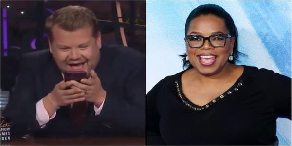 James Corden Gets A Surprise When He Gives Oprah An Impromptu Call On The Late, Late Show