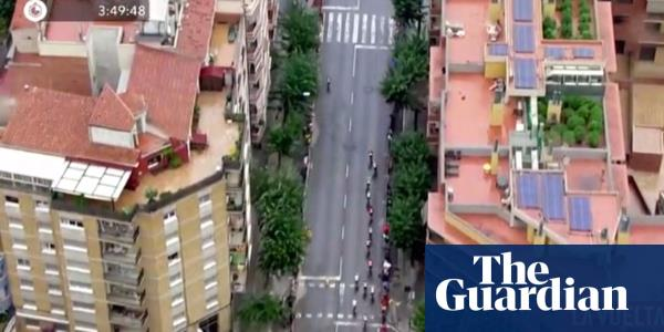 Helicopter reveals rooftop marijuana plantations while filming Vuelta