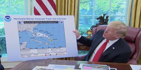 Trumps Hurricane Dorian Map Looks Pretty Suspicious