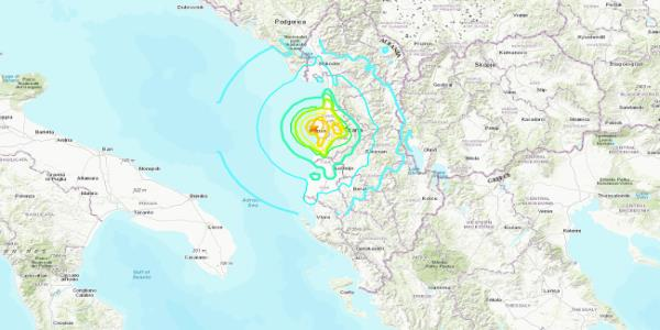105 people injured as a pair of strong earthquakes rattle Albania