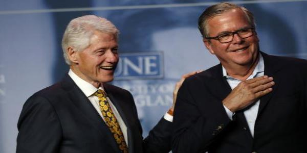 Bill Clinton and Jeb Bush seek refuge from Trump impeachment storm