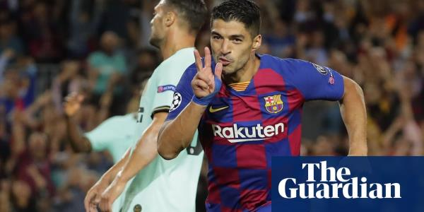 Luis Suaréz double pushes Barcelona past Internazionale after early scare